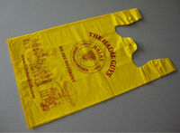 yellow plastic shopping bag for shopping
