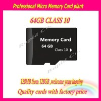 China excrow Factory Cheapest Prices Micro TF Memory sd Card 64gb class 10 speed hot sale smart mobile phone cards