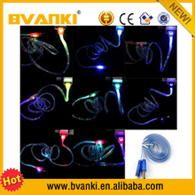 wholesale 2.0 charger data sync charge cable light up led data sync cable