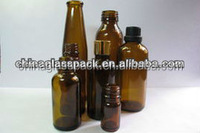 2014 Design Amber Moulded Glass Bottle