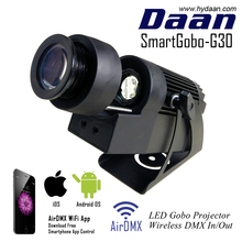 WiFi Smartphone App Control Wireless DMX LED Gobo Projector