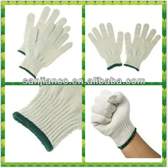 hot selling 7gauge cotton lycra gloves SJIE12089-1