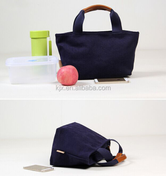Black Canvas Cooler Bag for Food Custom Logo