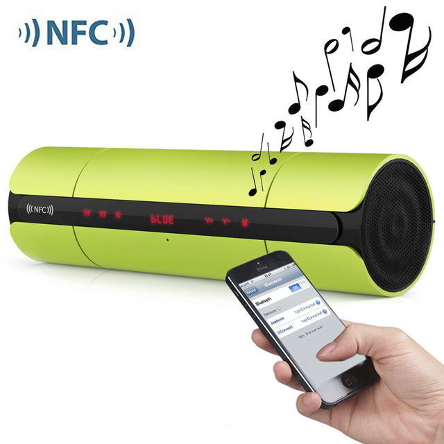 NFC KR8800 Multifunctional Mini Portable Wireles FM HIFI Bluetooth Speaker Stereo Loudspeakers Bass Sound Box for IPhone Android