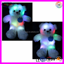 E713 Adorable Teddy Bear LED Light Up Pillow Colorful Flash Stuffed Animal Colorful Shining Led Light Pillow