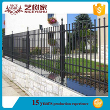 Beautiful ornamental exterior artistic gates and steel fence design European used laser modern aluminum fencing for villas homes