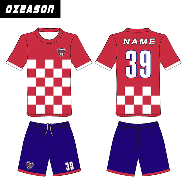 Custom make your own sublimaton football jersey soccer uniform