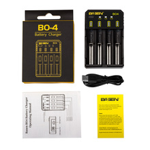 Good quality Basen BO4 18650 battery charger LED universal portable 3.6/3.7v 0.5A 1A 2A digital charger
