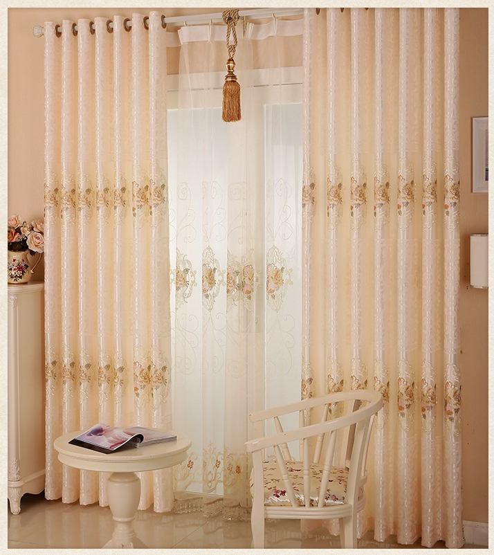 Low Price 100% Polyester Window Jacquard Curtains/ Curtains Fabric