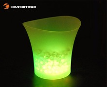 Plastic champagne led changing ice bucket