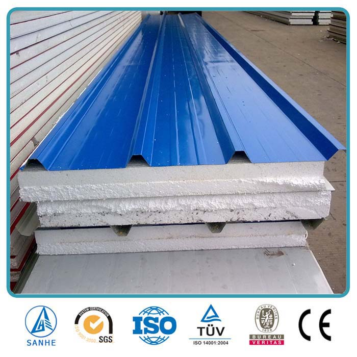 Wall panel sandwich, building material sandwich roof panels
