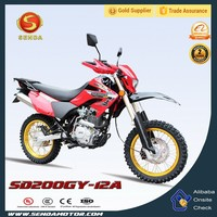 New Popular Manual Cheap China 200cc Dirt Bike with Electric Starter HyperBiz SD200GY-12A