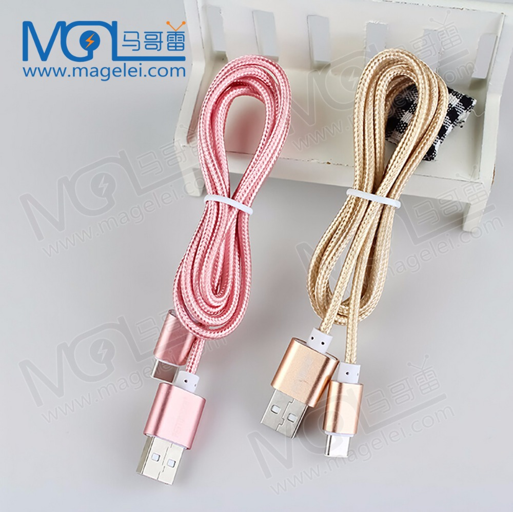 OEM 1M 2m 3m Fabric braided USB data charging cable for iphone5 5S 6 6s 6Plus 7 7s 7plus Nylon Cord