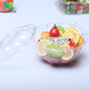 disposable plastic salad bowl with lid