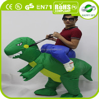 2016 high quality inflatable costume, inflatable dinosaur costume, realistic dinosaur costume for sale