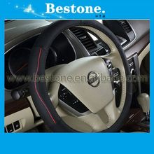Genuine leather car steering wheel cover for Honda