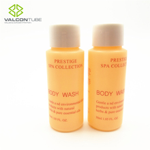 30ml pe plastic bottle for body wash with white cap hotel amenity bottle