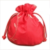 Custom logo fashion satin wig package storage bag