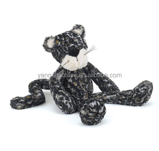 cute stuffed animal lovely plush stuffed toy leopard toy in dark color