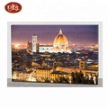 led canvas painting with new religion building for home decor