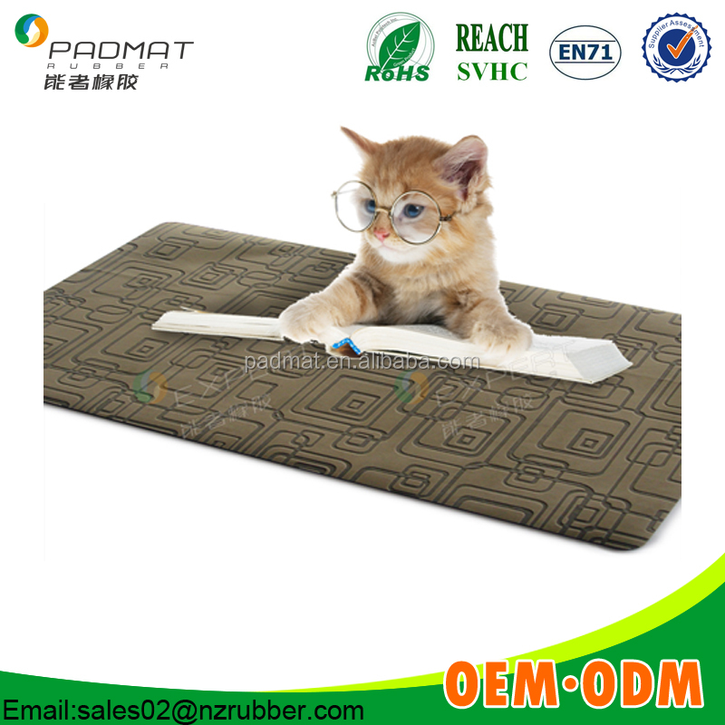 Waterproof pet absorbable mat/one-off pet pad