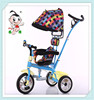2016 popular hot large rear window tricycle for children with high quality for 1-5 years old