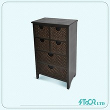 Manufacture made fir wood mdf wall float shelf with drawer