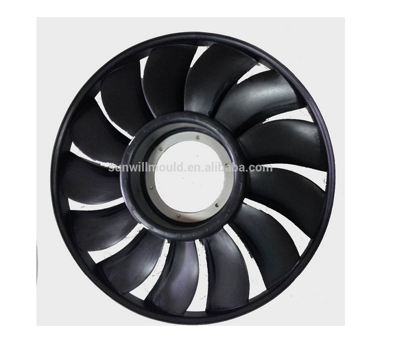 Custom High Quality Plastic Auto Fan Blade Mold plastic injection Fan blades mold made in China Plastic ABS PP Fan Blades