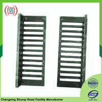 Outdoor sewer surface water sidewalk drain grate