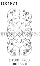 Floral Panel Wrought Iron Fence Gate