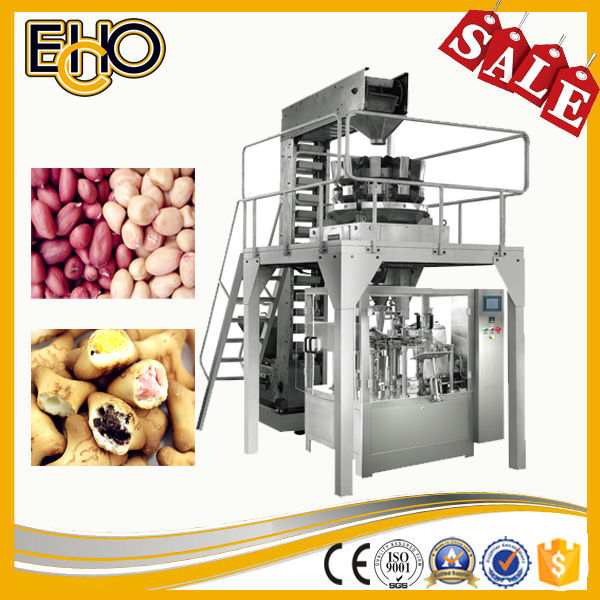 High speed flat bag counting stainless full automatic rotary marshmallow Weighing Filling Sealing tray pack machine