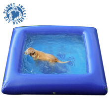 Mini Blue Inflatable Dog Water Swimming Pool For Pets