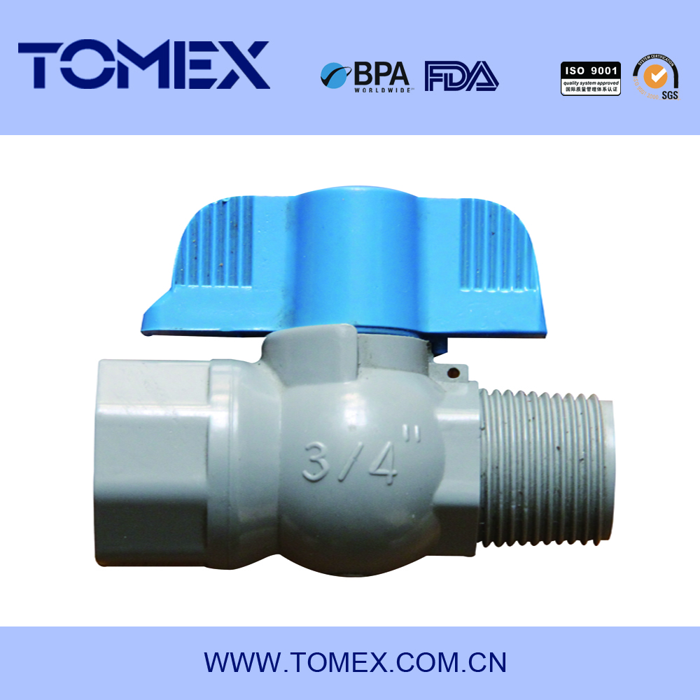 2017 china supplier manufacturing motorized pvc ball valve dn20