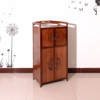 New Arrival!Chinese style Carved 100% natural bamboo two colors choosable multifunctional Cabinet with four doors