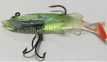 lead head soft fishing lure 8cm 11g jigging squid fishing tackle 2014 new type for lure