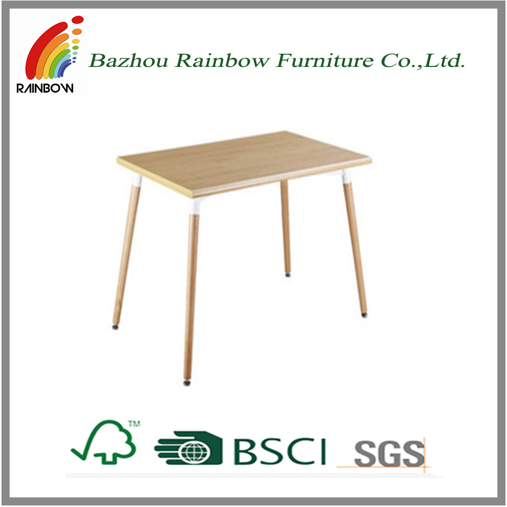 Wood dining table with beech wood legs