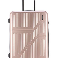 Pink Vintage Abs Pc Suitcases Travel
