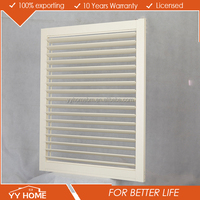 YY home China supplier Customized Metal Easy Install Aluminum Plantation Shutters