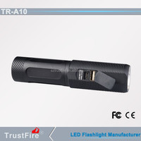 TrustFire A10 led rechargeable ring torch light,power bank usb flashlight, wholesale smart flashlight