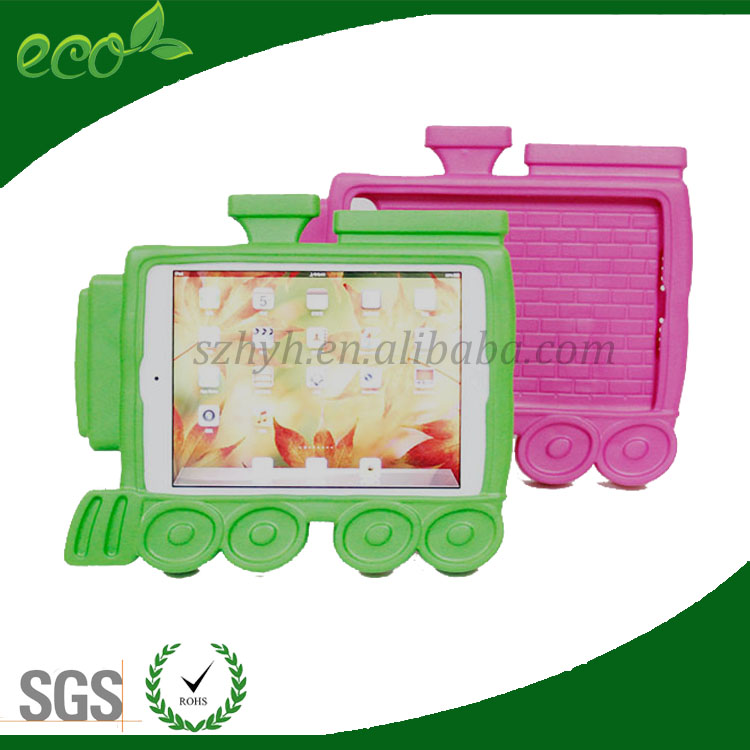 hottest 8 inch rubber train design kids bumper case EVA foam tablet case EVA tablet cover for ipad mini
