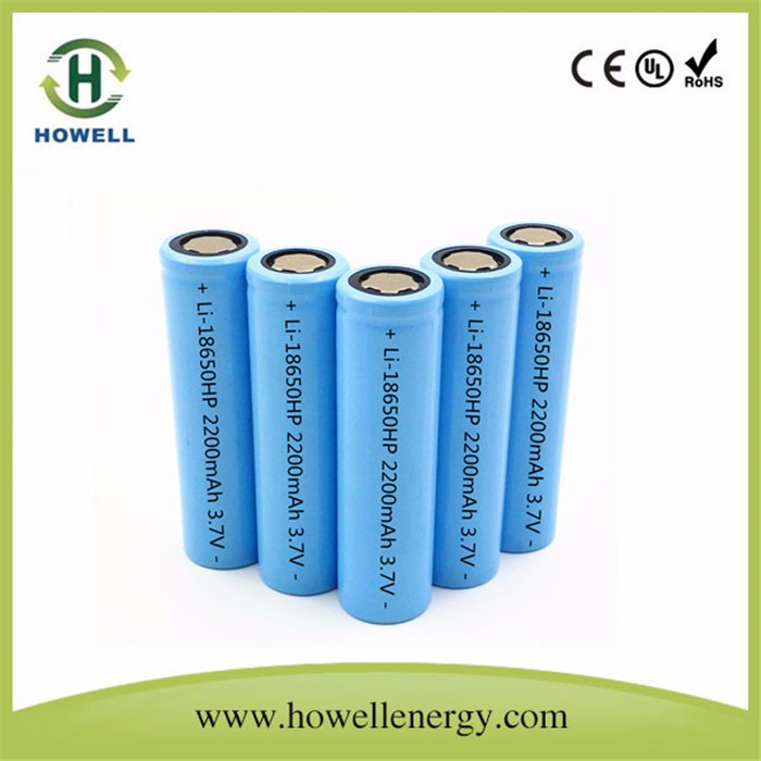 Flat Lithium battery 18650 3.7v li-ion battery 2500mah /lithium ion battery cell
