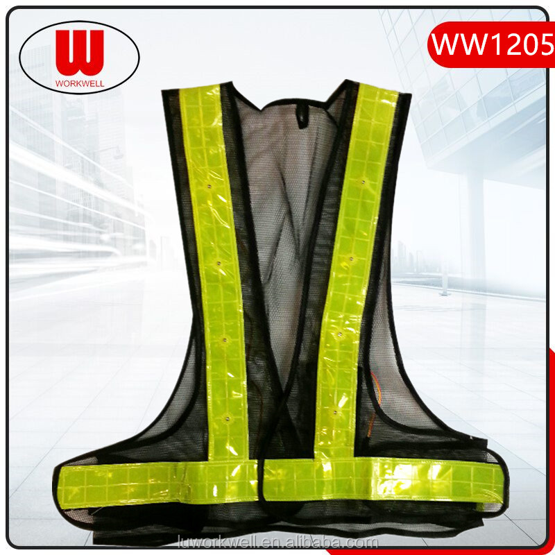 Hot sale reflective running led vest