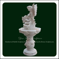 Small White Garden Outdoor Marble Angel Water Fountain