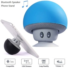 Wireless Mini Bluetooth Speaker Portable Hands Free Sucker Cup Audio Receiver Music Mushroom Stereo speaker For iphone 8 speaker