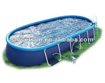oval frame pool buy frame pool swim pool pvc swimming pool product on. Black Bedroom Furniture Sets. Home Design Ideas