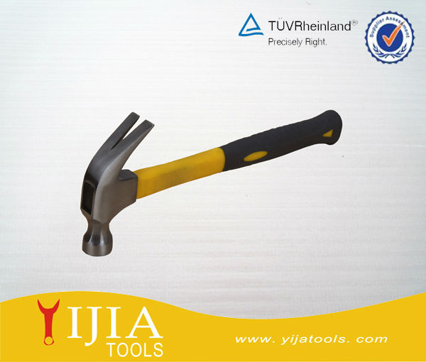American type claw hammer with plastic coating handle