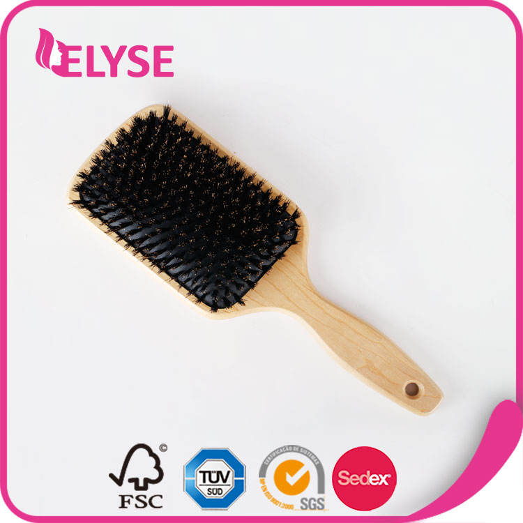 Exquisite salon and home colorful pig hair brush