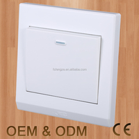White one gang wall switch, one gang big button wall switch, OEM wall switch