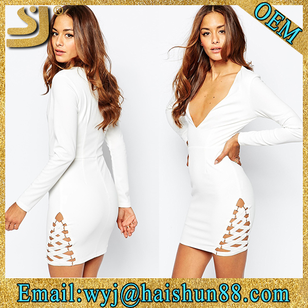 unique tight office original design casual long sleeve formal dress