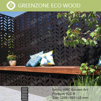 Greenzone WPC Embossed Plate 612-B wood plastic decorative garden fence